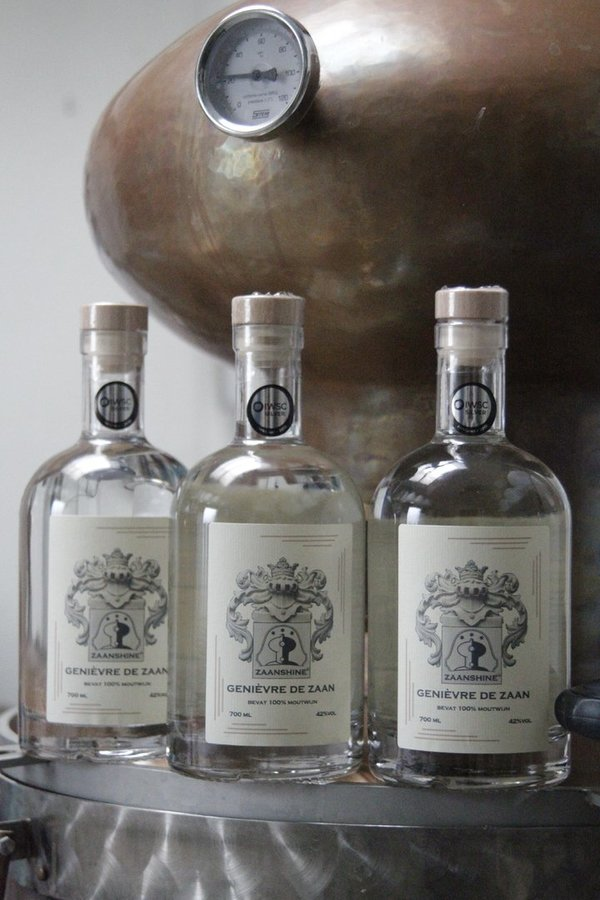 Genièvre de Zaan 700 ml 42%vol. Oude jenever 100% moutwijn